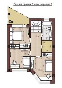 Секция правая 2 этаж, вариант 2