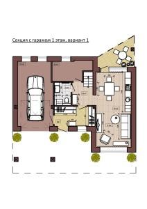 Секция с гаражом 1 этаж, вариант 1-page-001
