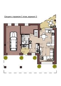 Секция с гаражом 1 этаж, вариант 2-page-001