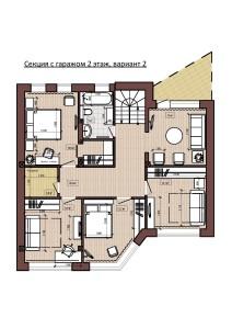Секция с гаражом 2 этаж, вариант 2-page-001